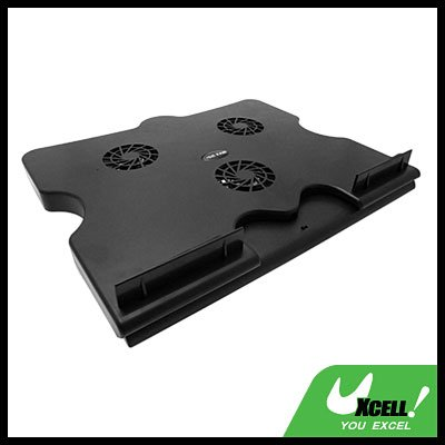 Notebook 3 Fan Cooling Cooler Pad with 4 Ports USB Hub