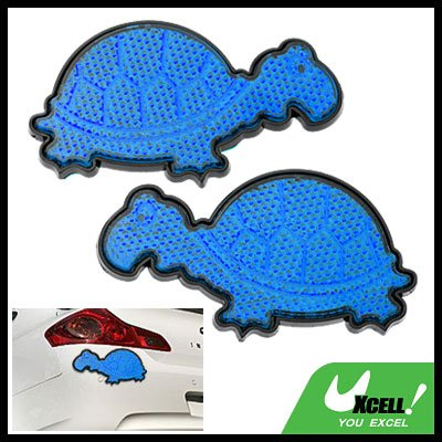 Stop Sign Car Light Reflector w/Blue Tortoise Shaped