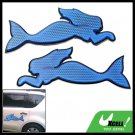 Blue Vehicle Car Motorcycle Bicycle Mermaid Sign Reflector