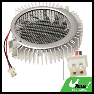 Aluminum VGA Video Card Heatsinks Cooler Cooling Fan