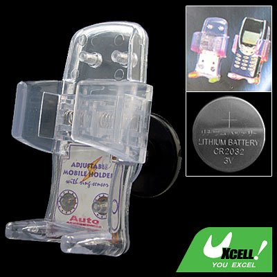 Crystal Car Auto Adjustable Cell Phone Holder with Sensor Flash Light