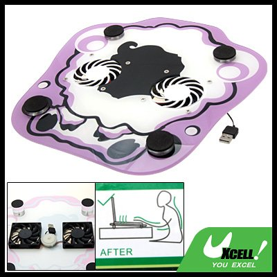 Anti-slip USB 2 Fans Notebook Laptop Cooling Cooler Pad