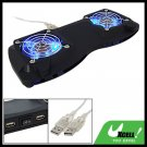 USB Powered 2 Fans Laptop Notebook Cooler Cooling Pad