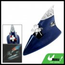 Navy Blue Decoration Antenna Wind Powered Red LED Auto Car Neon Light