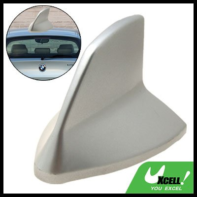 Silvery Car Roof Static Remove Decorative Shark Fin Antenna