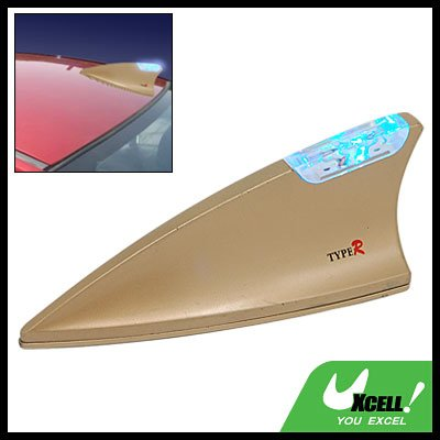 Car Auto Shark Fin Decorative Antenna with Sensor Light