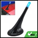 Black Car Inductive Decorative Antenna w/ Colorful Light