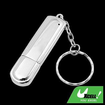 1GB USB Stainless Steel 2.0 Flash Memory Stick Key Ring