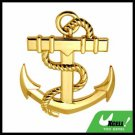 Car Accessories Golden Abstract Anchor Car Badge