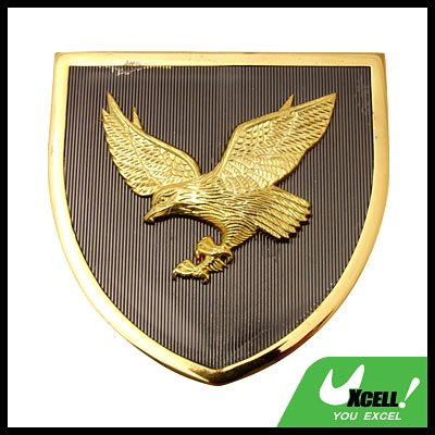 Golden Abstract Eagle Car Badge