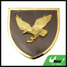 Golden Abstract Eagle Car Badge