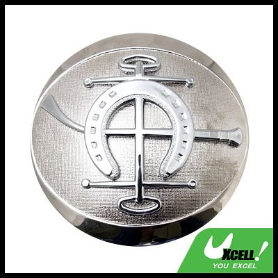 Car Accessories Abstract Car Badge Silver