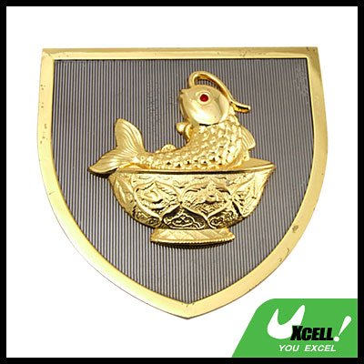 Golden Carp Car Accessories Car Badge Emblem
