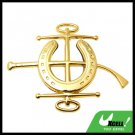 Car Accessories Jockey Car Badge Emblem Golden