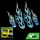 Flame Design Car Decoration Logo Badge Sticker Blue (HL-8012)