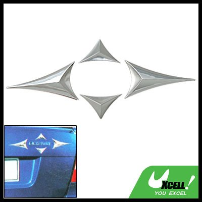 Silvery Badge Scrip Customize Automotive Emblems for Car