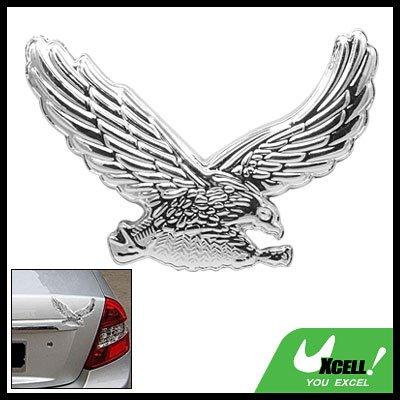 Chrome Look 3D Eagle Shaped Auto Car Badge Emblem Sticker