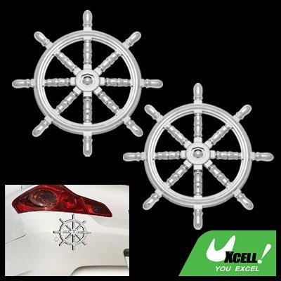 3D Nautical Steering Wheel Car Badge Emblem Sticker