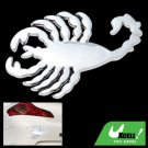 Silvery Scorpion Car Decoration Logo Badge Sticker Truck