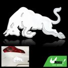 Silvery OX Car Decoration Logo Badge Sticker Truck