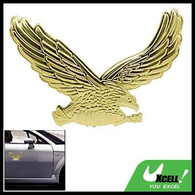 Golden 3D Eagle Shaped Car Auto Badge Emblem Sticker