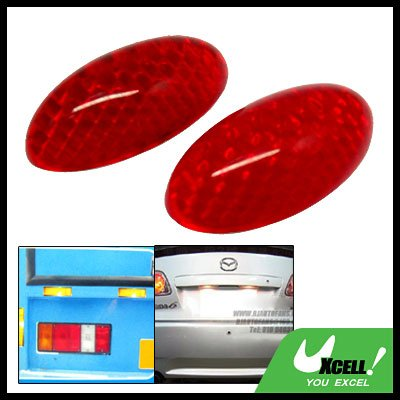 Oval Shaped Red 2 Pieces Car Door Guard (TY-801)
