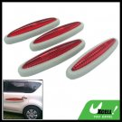 Red and Gray Car Door Guard 4 Pieces (LK-217)