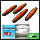 Orange and Black Car Door Guard 4 Pieces (LK-217)