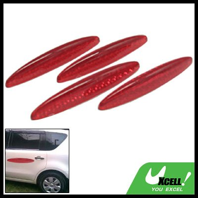 Glary Transparent Red Car Door Guard Set 4 Pieces (HL-6118)
