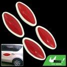 Red and White Rim Olive Shaped 4 Pieces Car Door Guard Decorative Sticker (LK-216)