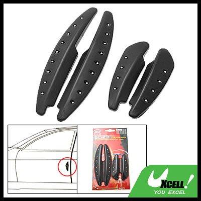 Black Car Door Decorative Sticker Guard - 4 Pieces (AC-710)