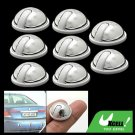 8 Piece Silvery Round Car Door Decorative Sticker Protect Guard
