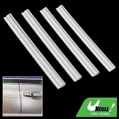 4pcs Silvery Car Body Door Bumper Guard Protector Set