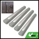 4PCS Car Body Door Bumper Guard Protector Set Gray