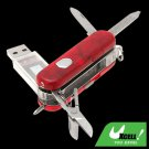 Multifunction Ball Pen 1GB USB Flash Memory Stick Drive with Scissors and Knife Set