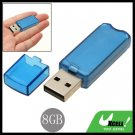 Portable 8GB USB 2.0 Flash Memory Pen Stick Drive Blue