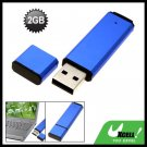 Portable Removable 2GB USB Flash Memory Stick Drive Storage Blue