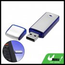 Blue 4GB Pocket Aluminium USB Flash Memory Stick Drive Storage