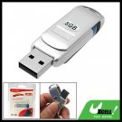 8GB Silvery Rotating Removable USB Flash Memory Stick Drive Storage