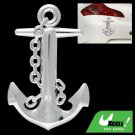 Plastic Graphic Anchor Decal Car & Truck Sticker Silvery
