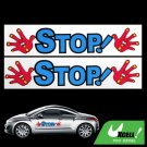Warning STOP Racing Car Auto Decal Bumper Sticker