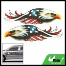 Eagle Car Decorative Decals Graphic Stickers Pair