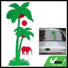 Car Decal Sticker Coconut Tree & Elephant Racing Logo