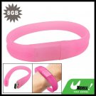 8GB Pink Bracelet Wrist Band USB Drive Flash Memory Stick