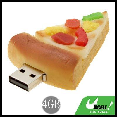 Cool-Look Pizza USB 2.0 4GB Flash Memory Storage Stick Drive