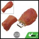 BBQ Drumstick USB 2.0 2GB Flash Memory Drive Disk