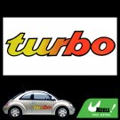 Turbo Racing Car Vehicle Window Sticker Vinyl Decal