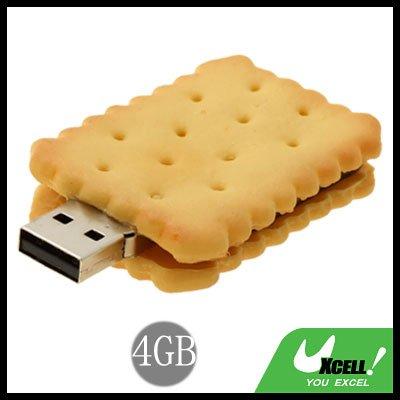 Biscuit USB 2.0 4GB Storage Flash Memory Stick Drive
