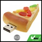 Pizza USB 8GB Flash Memory Storage U Stick Drive