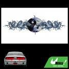 Dragon Yin Yang Asian Orient Chinese Car Decor Decal Sticker